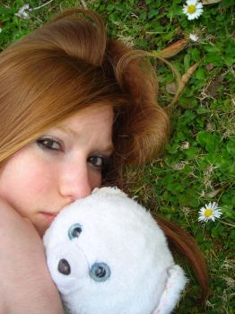 Red haired with teddy bear IV by Cannellekikou