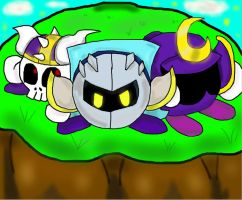 MetaKnight,AxKnight,and TridentKnight by RemotazukariRULES