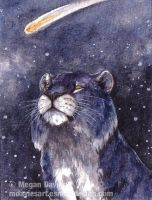 Space Tiger ACEO by Pannya