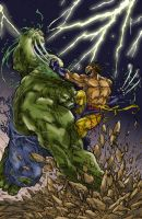 Hulk vs Wolverine original by Pant by MrFixit741