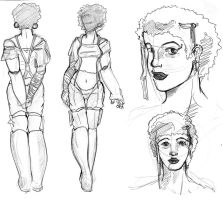 Character Sketch Izzy by wasiland
