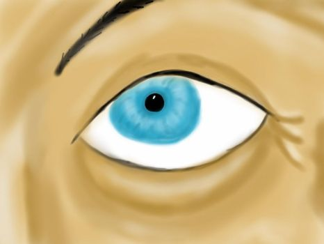 Blue eye - iPad finger painting by Osman55