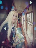 Luna Lovegood at the Hogwarts Express cosplay by MissWeirdCat