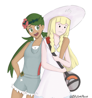 Pokemon SM - Lillie and Mallow by SirWhintlebottoms