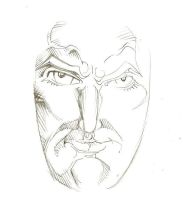 Face Sketch One by PeterPalmiotti