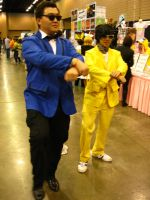 AWA 2012 - PSY and Yoo Jae-Seok (Gangnam Style) by vincent-h-nguyen
