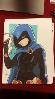 Raven commission I did at MBCC! by ZombieErnie
