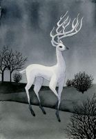 Silver Stag by reneenault
