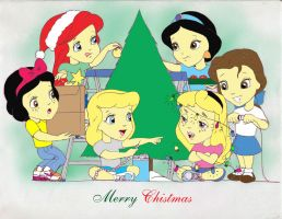Princess Kids Christmas 06 by Anime-Ray