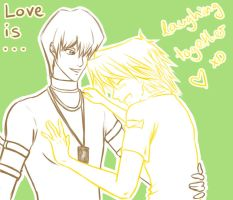 YGO: Seto x Joey_Love is... by dragonfly92