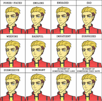 Mikey Way's Expressions by ShinySharkTeeth