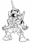 SD Eva unit 01 lineart by Mintyrobo