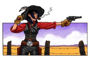 Gunslinger Rides Again by Grinning-Oni