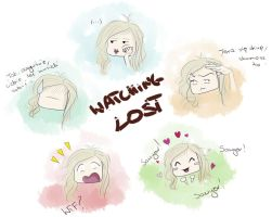 Watching LOST by malootka