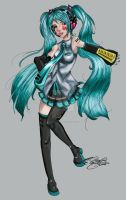 Vocaloid: Hatsune Miku by linkfreak131