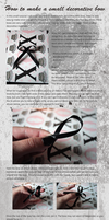Decorative bow tutorial by Macabreskiss