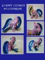G3 baby licorice custom by lunaroak
