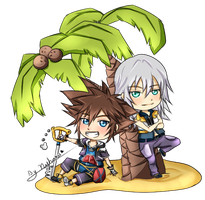 Sora and Riku by nyharu