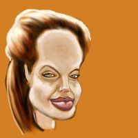 Jolie Caricature WIP by jonesmac2006