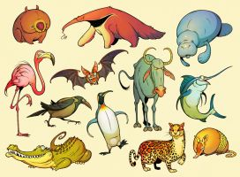Twelve Daily Animals by einen