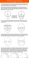 Drawing a face tutorial by Xelgot