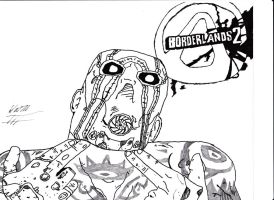 Borderlands 2 - Psycho Inked by stonerloner