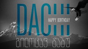 Dachi Birthday Card by AlexSatriani