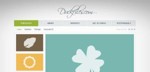 Another mini porftfolio website template by DuckFiles