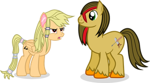 woodchip and Galetea by Vector-Brony
