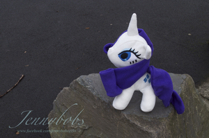 MLP Rarity plush by Blindfaith-boo