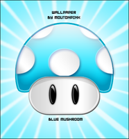 Mario Bros Blue Mushroom by moutonpink