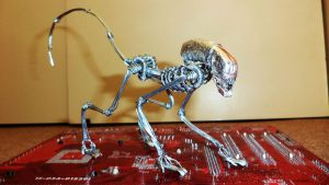 DOG BURSTER in wire (ALIEN 3) by TheWallProducciones