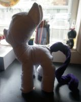 Rarity Test plushie 1# by CorporatePuppet