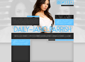 free layout ft. Janel Parrish by mmmystery