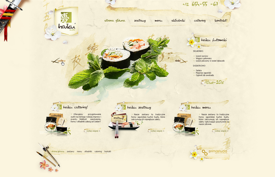 haiku sushi web by t3t5uo