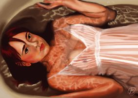 Girl in Bath by Lithiumcarbonat