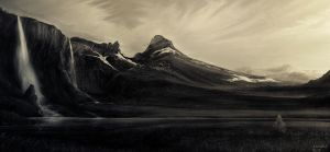 iceland glacier valley 2a by andrekosslick
