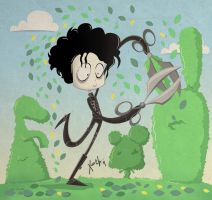 Edward Scissorhands by xochiltana