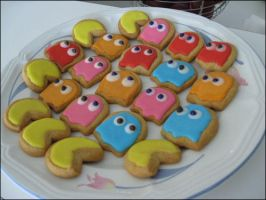 Pacman cookie crew by ThePockyNinjaBakery