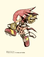 No.4 Knuckles the Echidna by NextGrandcross