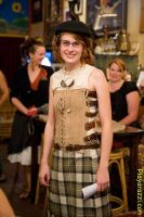 Steampunk leather bodice by KateMonsterrr