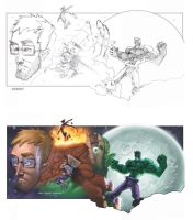 Before and After In Hulk by cheeks-74
