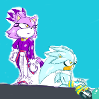 Silver and Blaze :sketch: by DarkLordGanondorf