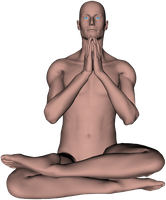 Zen Meditation Pose, Angle 5 by PyroNsanity-Stock