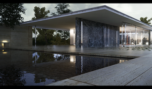 Barcelona Pavilion 4 by the-f-render