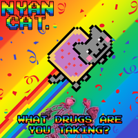 Nyan Cat Funny Poster by Buizleflare