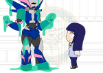 Chibi Chain - Slimed - Poor Arcee by Dragon-FangX