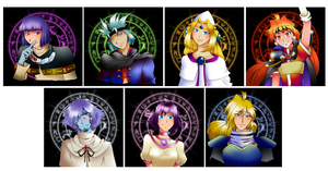 OT 2011 - Slayers pins set by FireDragonRem