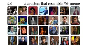 My 28 characters that resemble Me meme by Normanjokerwise