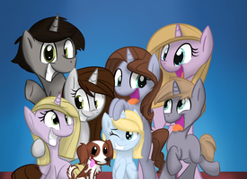Family Portrait (Commission) by Littleblackraencloud